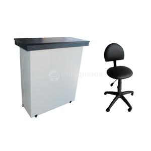 Recepción Mueble De Caja + Taburete