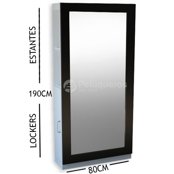 Espejo Negro C/Mueble