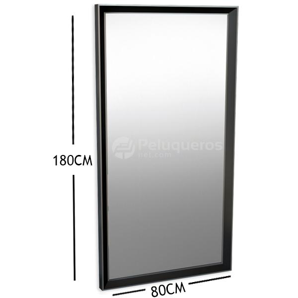 Espejo Negro Y Aluminio