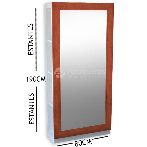 Espejo Perfil Plano Cedro C/Mueble