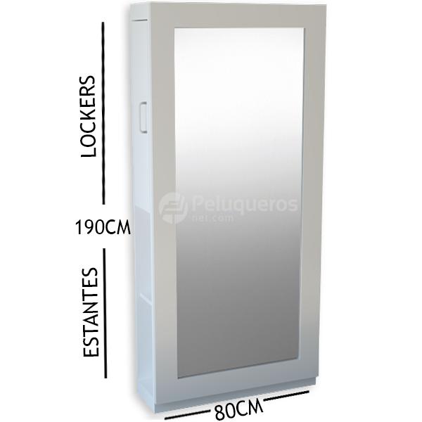 Espejo Perfil Plano Blanco C/Mueble
