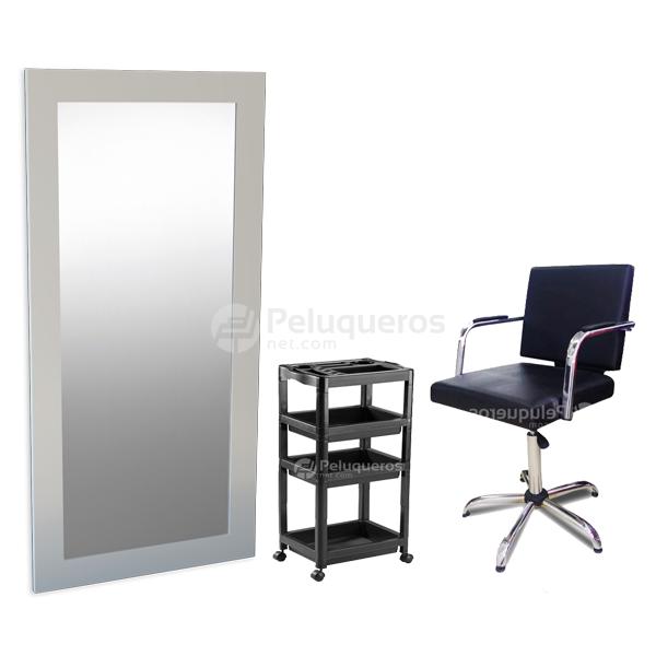 Combo 36 – Espejo Blanco + Ayudante + Sillón